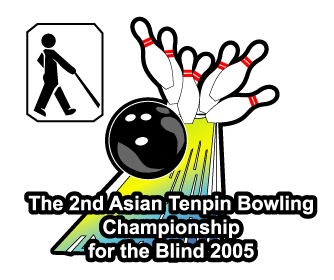 Poster of 2nd Asian Tenpin Bowling Championship for the Blind ° ` Q I 0